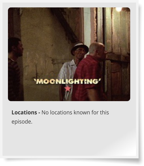 Locations - No locations known for this episode.